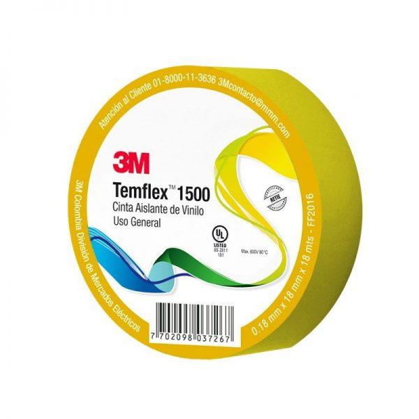 CINTA TEMFLEX 1500 XX100024981 18MMX18 AMARILLA 3M