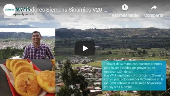 Variadores SIEMENS en la producción de arepas en Boyacá