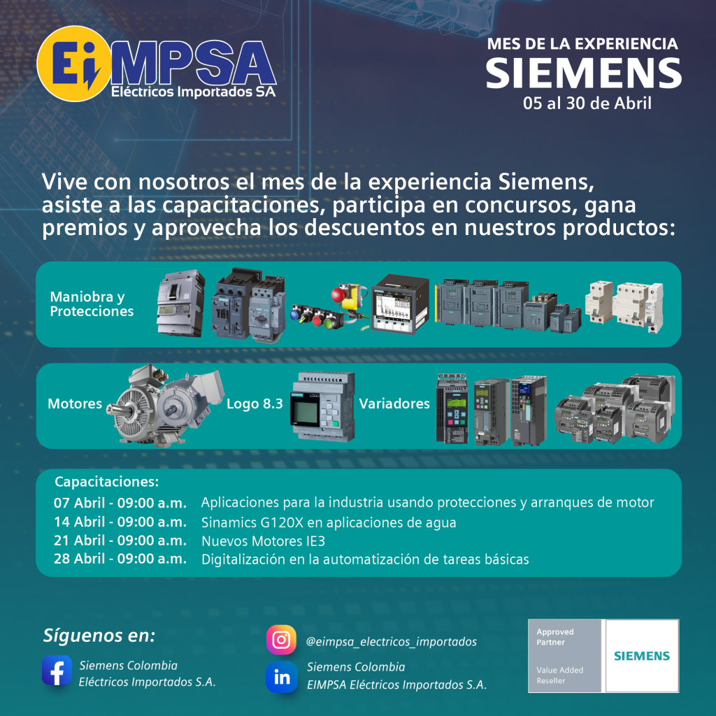 capacitaciones abril Siemens EIMPSA