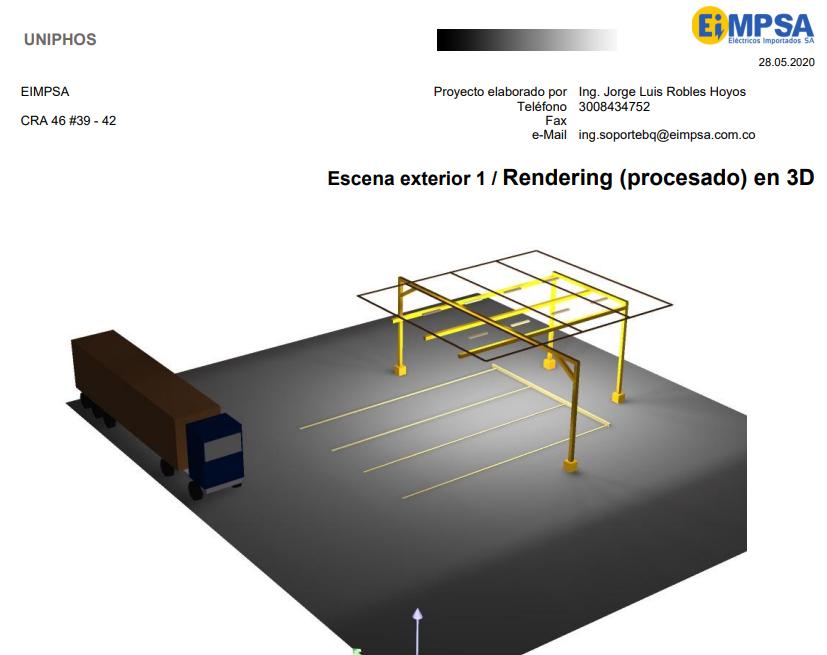 Render Uniphos Iluminación por EIMPSA