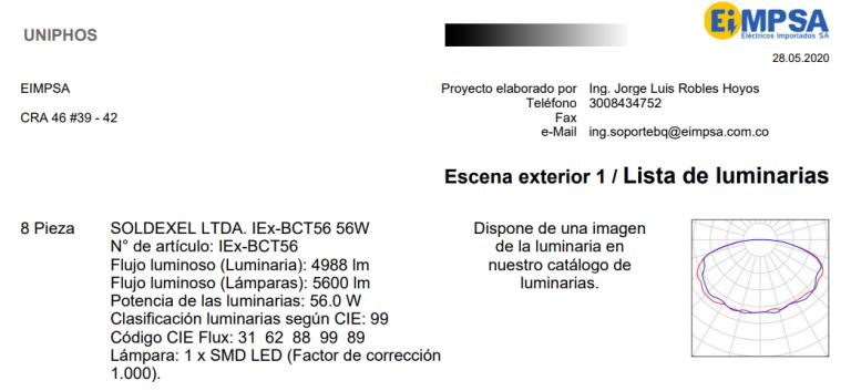 Diseño Iluminación EIMPSA